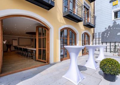 Hotel Wurzer - Sonnenterasse und Raum Goldsteig